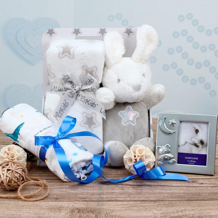 canastilla para bebe, cesta regalos para bebes