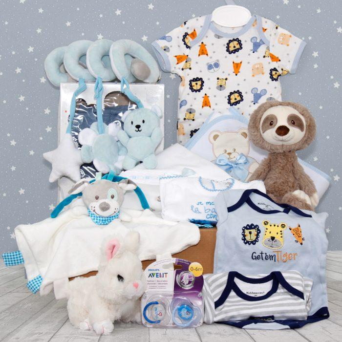 canastilla para bebe, cesta regalo para bebe