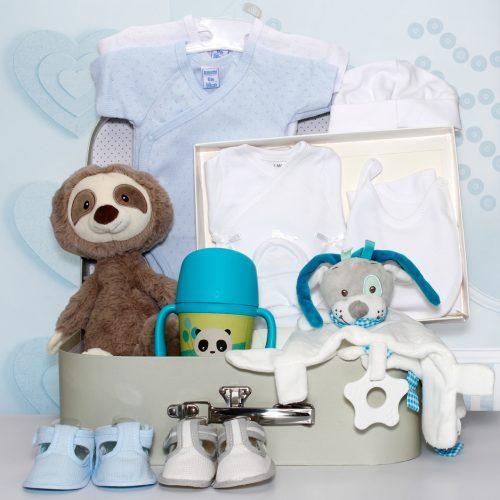 Cesta regalo para bebe, canastilla de bebe
