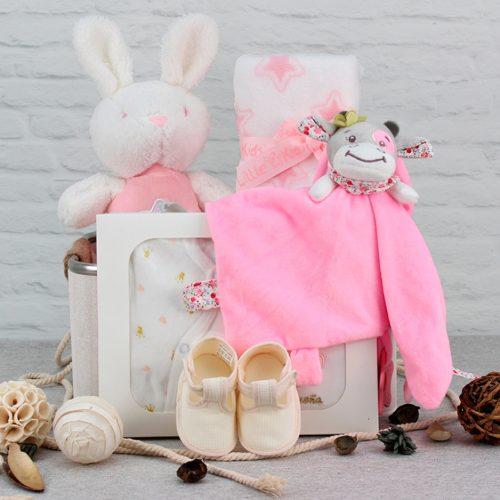 Cesta regalo para bebe, canastilla de regalo